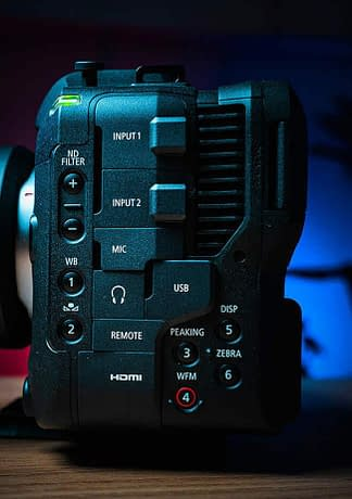 EOS C70 XLR ports feature