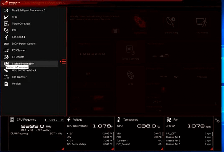 Asus motherboard utility